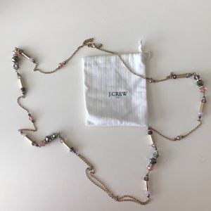 J Crew gold beaded necklace